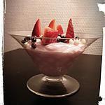 recette crème légère fraise bonbon