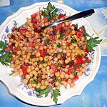 recette Salade de pois chiche aux raisins secs