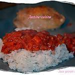 recette Sauce aux poivrons et tomates pelées
