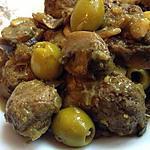 recette Tajine de boulettes de viande aux champignon