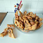 recette Petits beignets croisés,(sorte de bugnes)