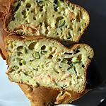 recette cake courgettes, ricotta et saumon fumé