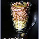 recette Verrines d'oeufs brouillés épicés et saumon fumé craquant