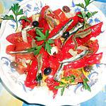 Poivron rouge aux anchois