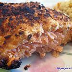 recette Filet de saumon en croûte de parmesan