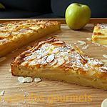 recette Tarte (Moelleux) aux pommes et aux amandes.