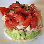 recette Tartare de saumon/Avocat/tomate/pomme granny