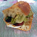 recette Sandwich chèvre chorizo