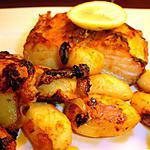 recette Morue au Four et ses Pommes de terre (bacalhau assado no forno com batatas assadas)