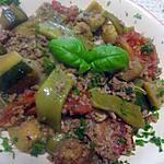 recette Trio de légumes à la viande haché.