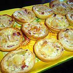 recette Mini-tartelettes St Nectaire / oignons / lardons