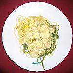 Spaghettis aux crevettes et quenelles
