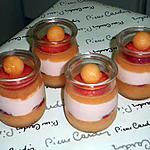 recette verrine minceur:fraise-melon