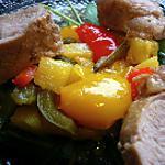 recette Filet mignon de porc en cocotte, confit de poivrons et ananas recette Anne Sophie Pic