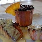recette Dos de saumon, sauce à l'orange et son riz à l'orange