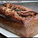 """** Cake marbré """"Merano"""" ou """"expresso"""" : café - noisette - chocolat**"""