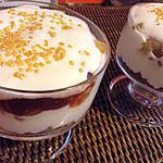 recette Verrine pommes caramélisé,spéculoos et fromage blanc
