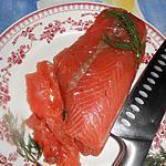 Gravlax ou saumon mariné a l aneth