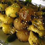 recette Brochettes melon-pastèque au sésame, à la menthe, flambées au Moscatel