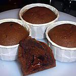 recette Muffins chocolat coeur fondant