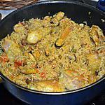 recette Paëlla fruits de mer & poulet