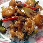 recette Sauté de légumes et crevettes sauce teriyaki