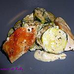 recette Poêlée poulet, courgettes et vache qui rit