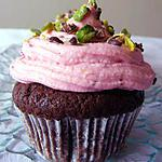 recette Cupcakes au chocolat, framboise et pistaches
