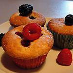 dessert fruits : recette muffins fruits rouge