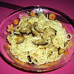 recette Spagettis aux aubergines et fenouil