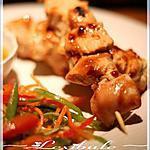 recette ~Brochettes de poulet, sauce à l'orange~