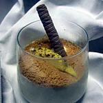 recette Verrines de crème à la mangue et biscuits spéculoos.