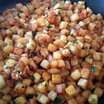 recette pommes de terre rissolées tomate oignon