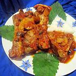 recette Manchons de canard sauce tomates et champignons.