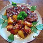 recette Langue de boeuf en sauce tomates et cornichons.