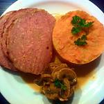 recette Pain de viande, potée aux carottes et sa poêlée de champignons(8)