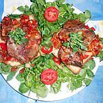 recette Tartine de foies de volailles au paprika