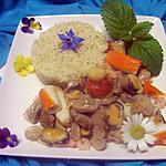recette Boulgour fruits de mer et champignons.