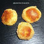 recette ARANCINI ITALIENS (BOULETTES DE RIZ MOZZARELLA)