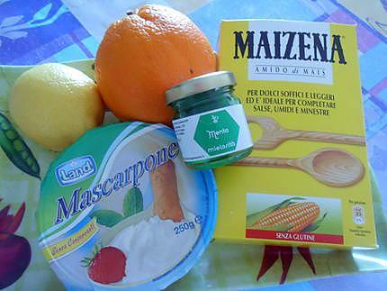 Crème mascarpone a l'orange et au citron miele à la menthe 430