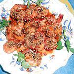 Crevettes aux sésames