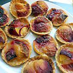 recette Tartelettes compote de pomme pêches blanches