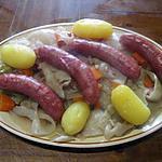 Saucisses  diots de Savoie aux légumes.