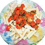 recette Macaroni aux tomates cerise et aux herbes