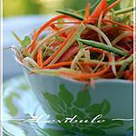 recette ~Salade croquante au parfum de miel et d'ail~