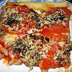 recette Pizza aux tomates lardons, maasdam et champignon frais