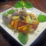 recette Saucisses de Toulouse aux trio de légumes.