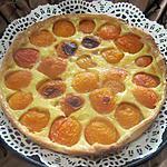 recette Tarte à la crème et aux abricots.