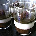 recette Gelée aux deux chocolats sur lit de framboises citronnées