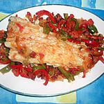 recette Filet de cabillaud aux poivrons et chorizo